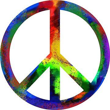 Rainbow Peace Sign by magichammer