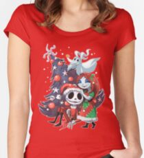 .Jack and Sally TNBC. Women's Fitted Scoop T-Shirt