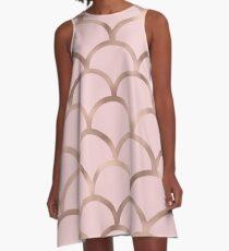 Rose Gold Meerjungfrau Skalen A-Linien Kleid
