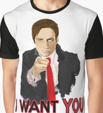 Mulder I Want To Believe Graphic T-Shirt