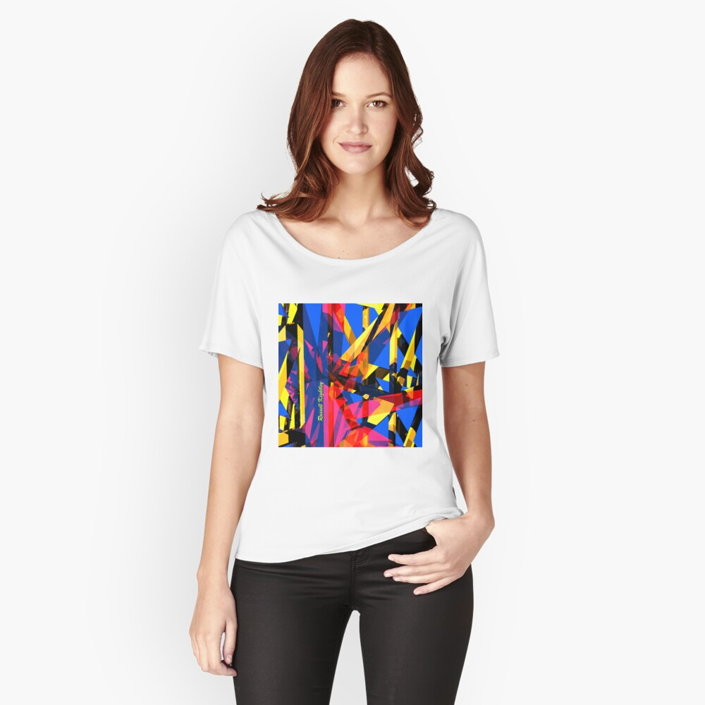 Shatter City Blue Tower Relaxed Fit T-Shirt