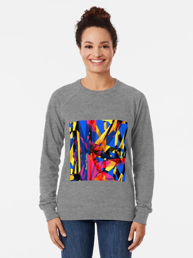Alternate view of Shatter City Blue Tower Lightweight Sweatshirt