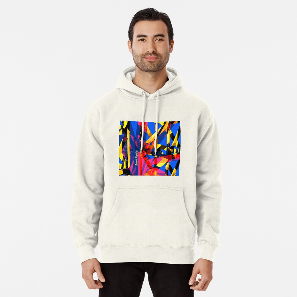 Shatter City Blue Tower Pullover Hoodie