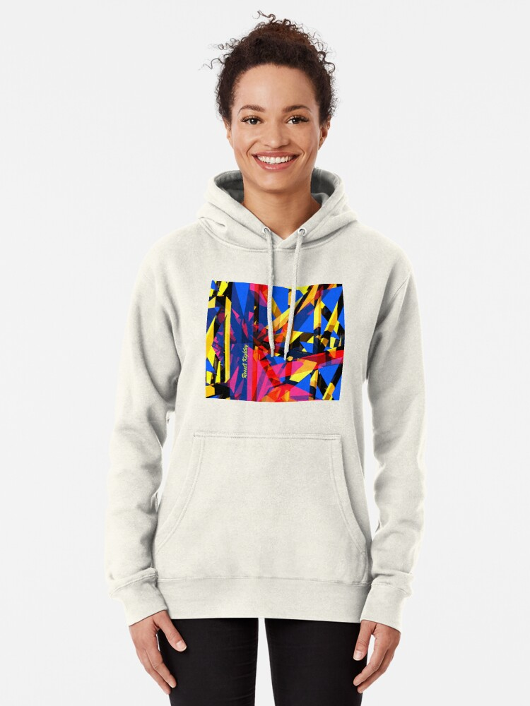 Alternate view of Shatter City Blue Tower Pullover Hoodie