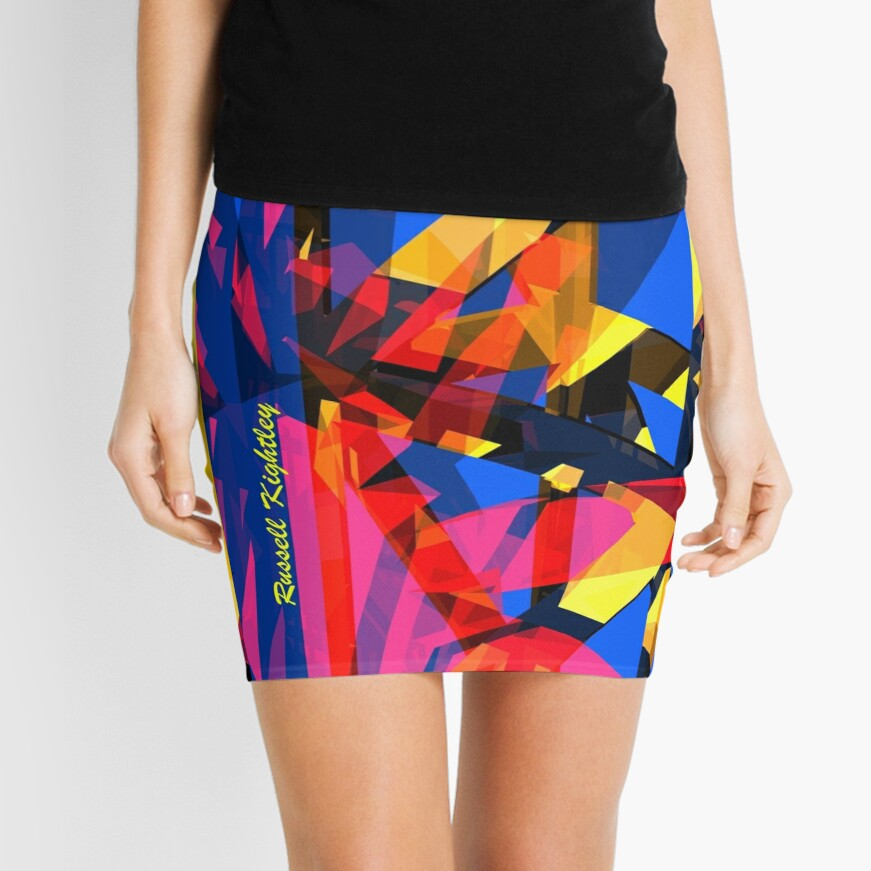 Shatter City Blue Tower Mini Skirt