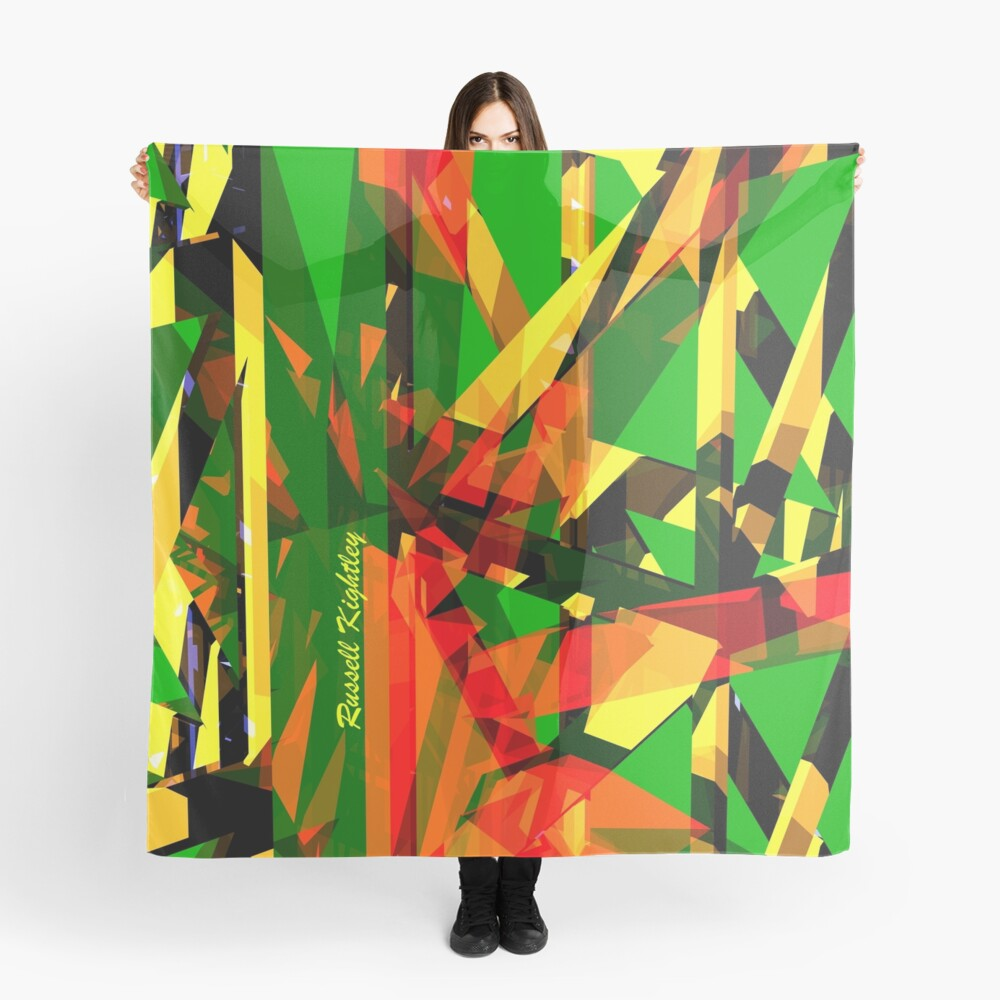 Shatter City Green Tower Scarf