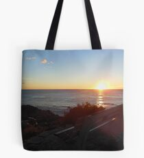 Bench at Sunrise Tote Bag