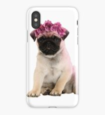 Hipster Pug Puppy iPhone Case