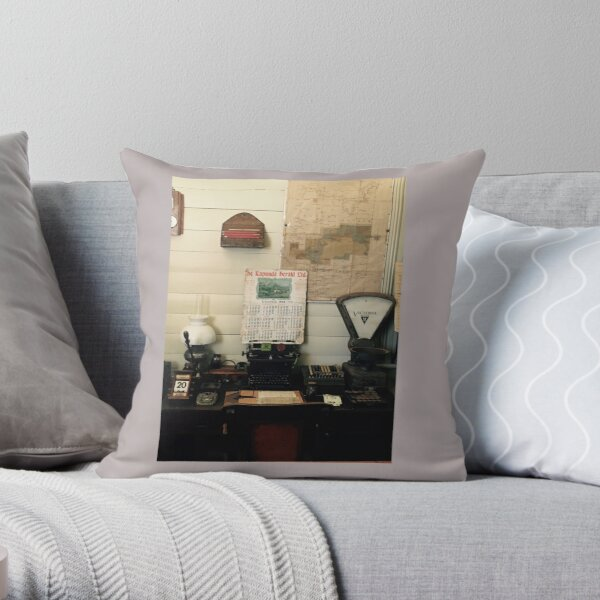 Time Travel Office Throw Pillow