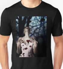 Girl with Bloody Heart 2 Unisex T-Shirt