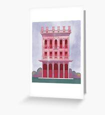 Pink Saloon Greeting Card