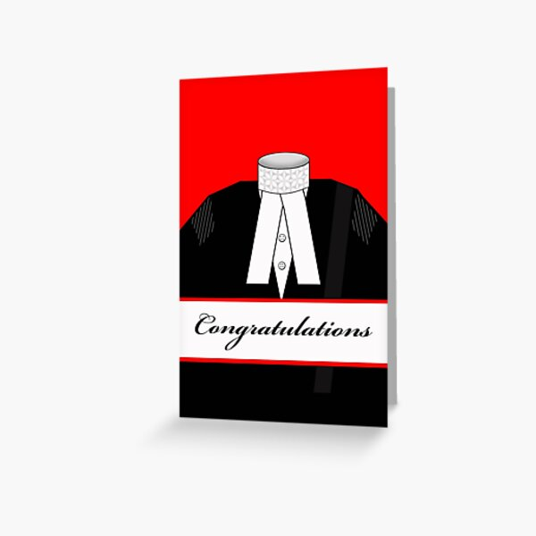 Female Barrister Congratulations Illustration Greeting Card