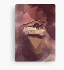 Low Polygon Wrex Canvas Print