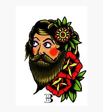 traditional bearded lady Photographic Print