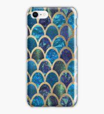 Teal mermaid scales iPhone Case/Skin