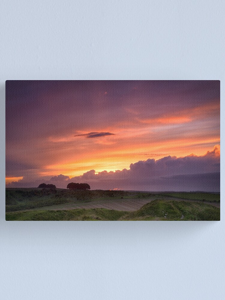 Alternate view of Sunset at Barbury Castle Canvas Print