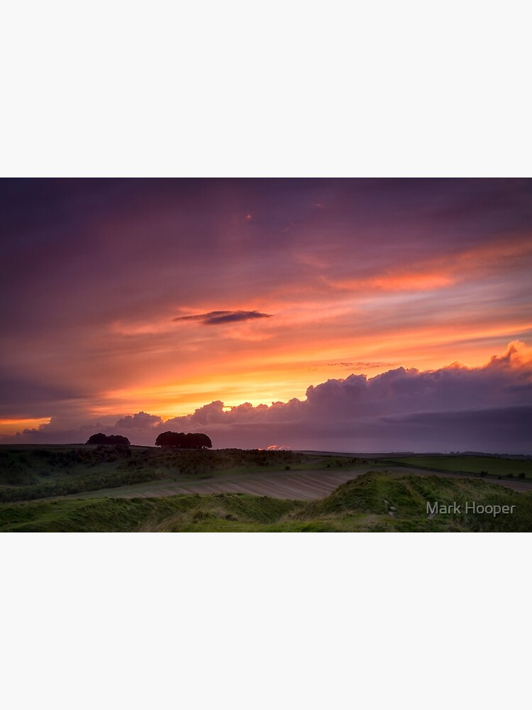 Sunset at Barbury Castle by MarkHooperPhoto