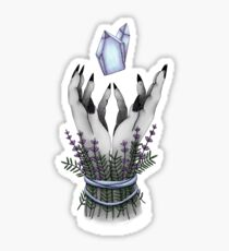 crystal hands colored Sticker