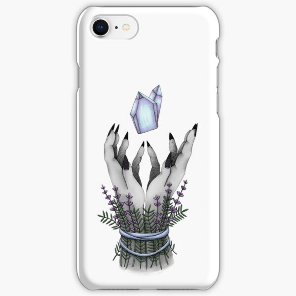 crystal hands colored iPhone Snap Case