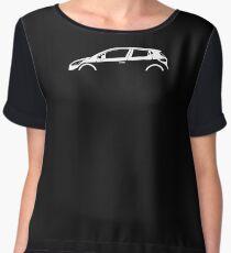 Car Silhouette - For  Renault Clio MK4 (2012-) hatchback Women's Chiffon Top