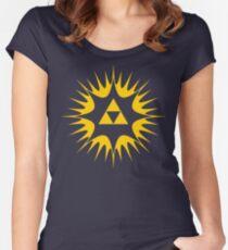Spiritual Triforce  Women's Fitted Scoop T-Shirt