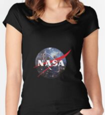 nasa space Women's Fitted Scoop T-Shirt