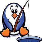 HeinyR- Fishing Penguin by cadellin