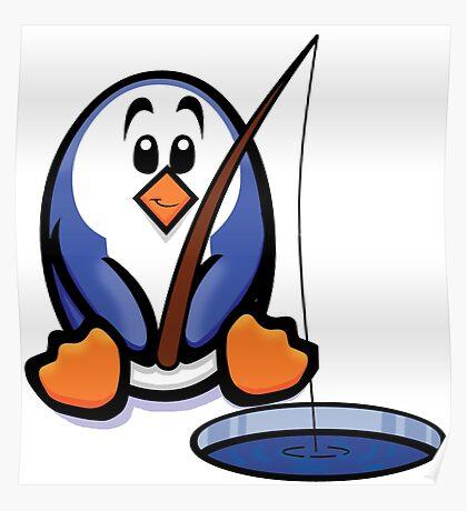 HeinyR- Fishing Penguin Poster