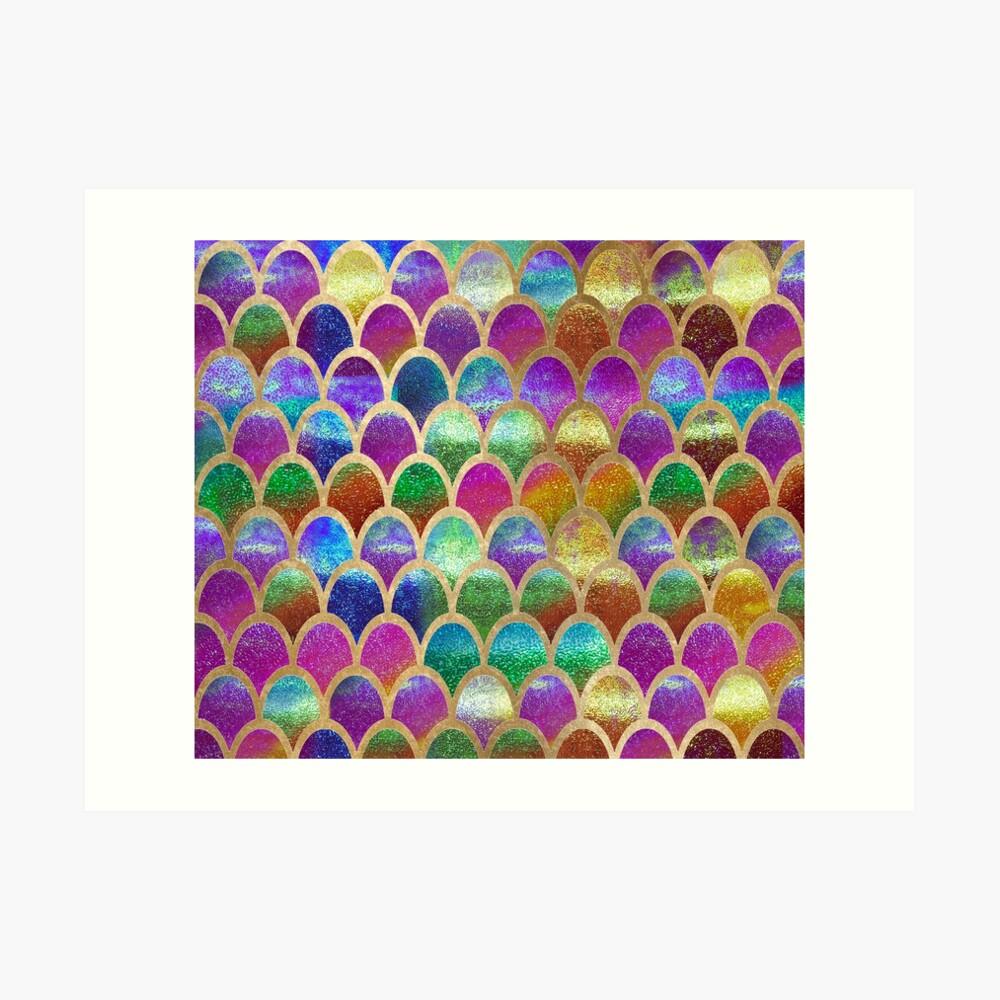 Escamas de sirena del arco iris Lámina artística