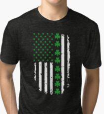 St. Patrick's Day Irish American Flag Tri-blend T-Shirt