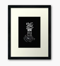 Cant Go Out Framed Print