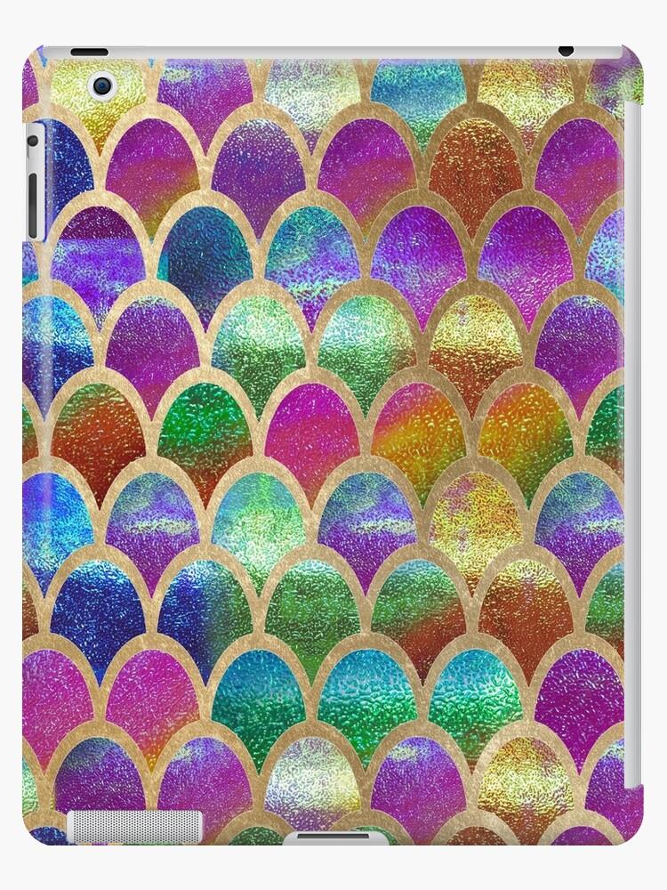 «Escamas de sirena del arco iris» de peggieprints