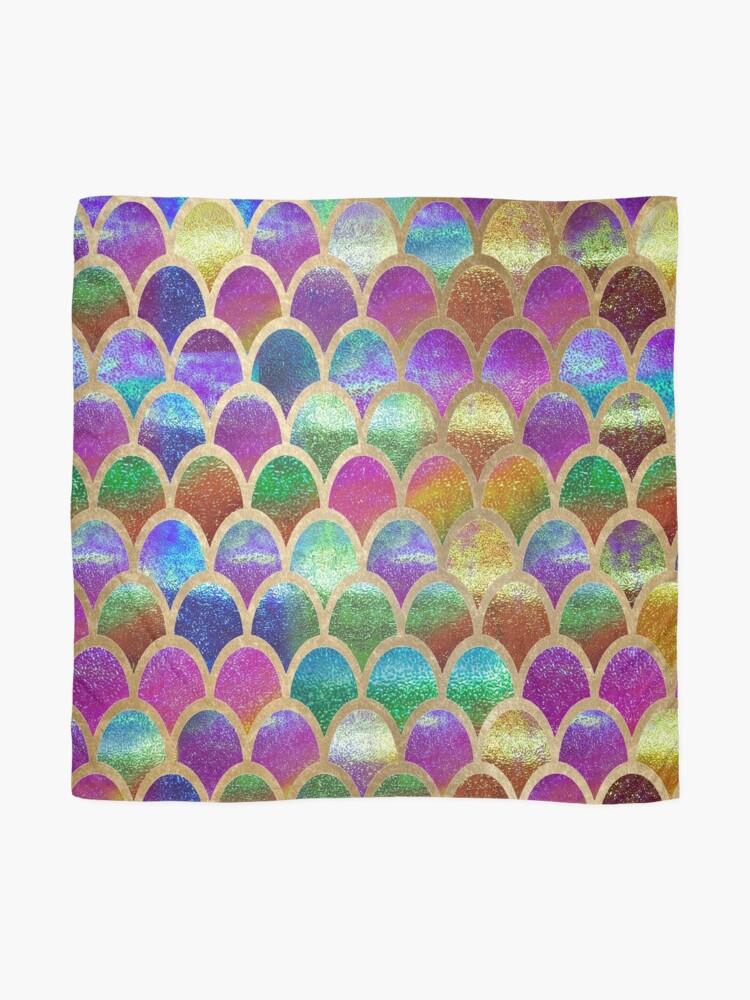 Vista alternativa de Pañuelo Escamas de sirena del arco iris