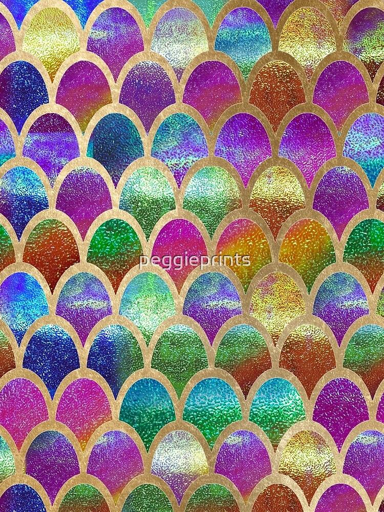 Escamas de sirena del arco iris de peggieprints