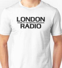 British Invasion - London Radio (Black) T-Shirt