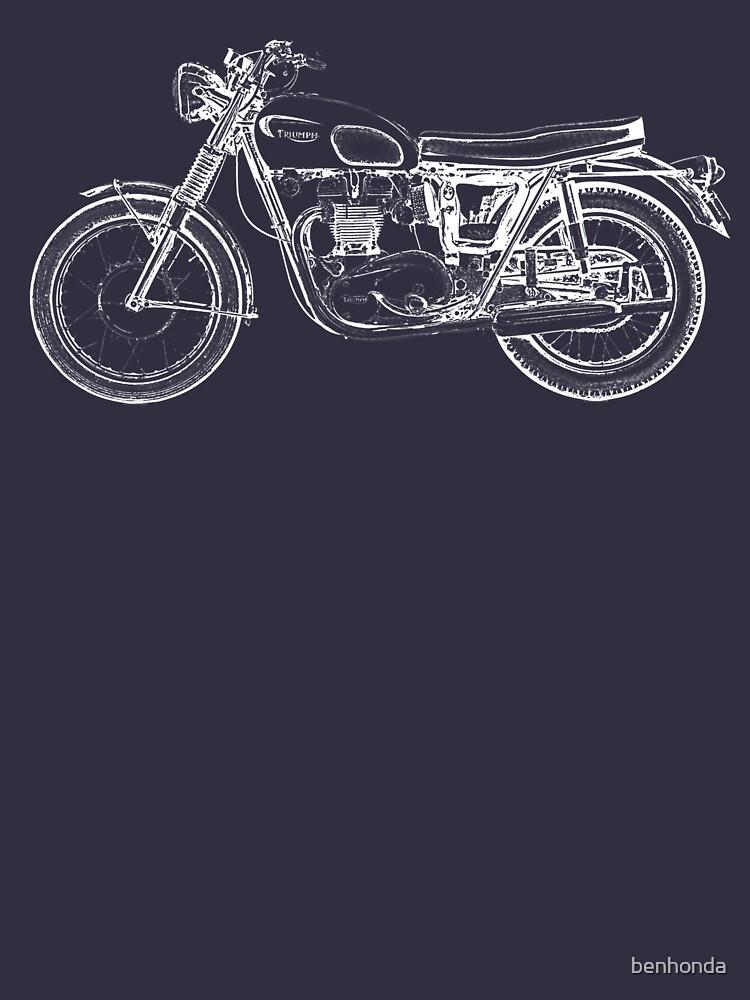 Triumph Vintage Motorcycle Bike Sketch by benhonda