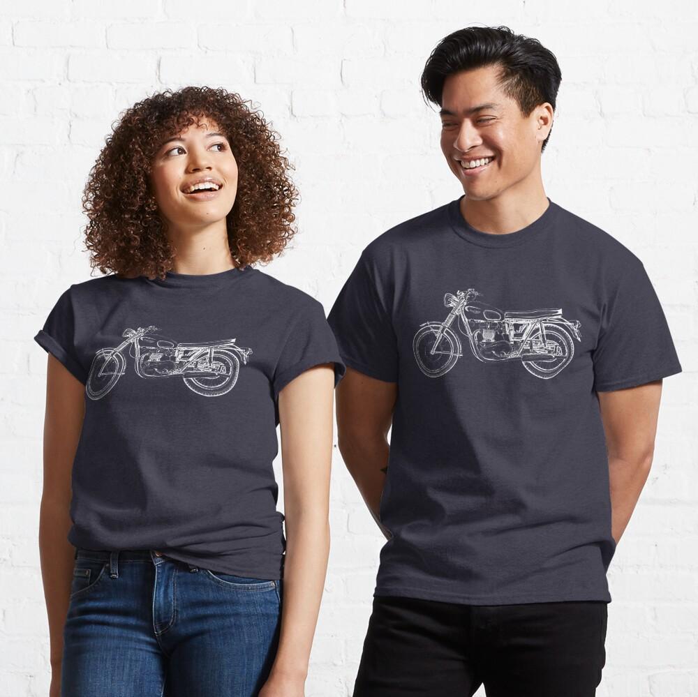 Triumph Vintage Motorcycle Bike Sketch Classic T-Shirt