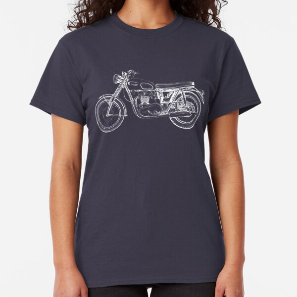 Triumph Vintage Motorcycle Bike Sketch Classic T-Shirt