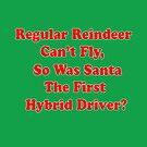santa's reindeer hybrid pun by dedmanshootn