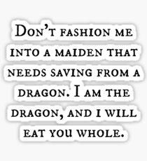 Dragon of Feminism 2 Sticker
