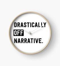 Drastically Off Narrative Clock