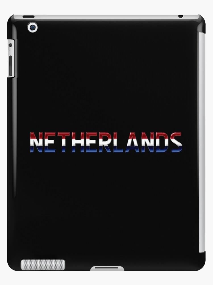 Netherlands - Dutch Flag - Metallic Text by graphix