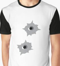 Bullet Hole Graphic T-Shirt