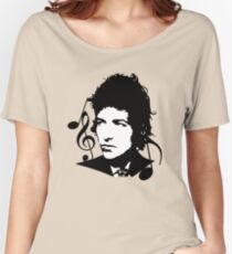 Bob Dylan - Stylized Women's Relaxed Fit T-Shirt