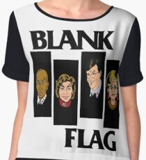 BLANK FLAG  ( Strangers With Candy ) Women's Chiffon Top