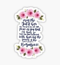 Floral Bible Verse Design Sticker