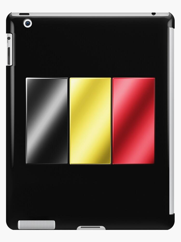 Belgian Flag - Belgium - Metallic by graphix