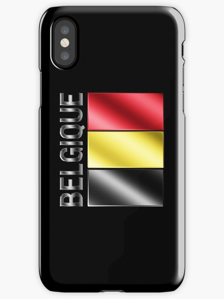 Belgique - Belgian Flag & Text - Metallic by graphix