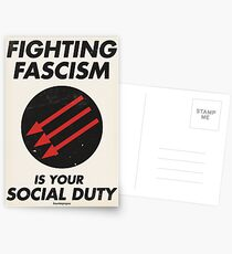 Fighting Fascism is Your Social Duty Postcards