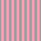 Pink and Grey Vertical Stripes by Greenbaby